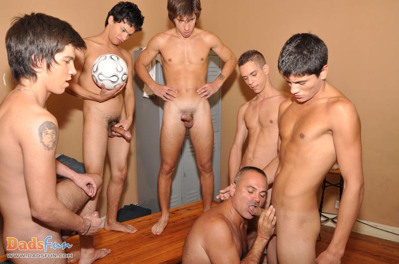 image Hot blowjob buddies team up on guys dick